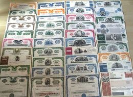100 DIFFERENT ANTIQUE U.S. STOCK CERTIFICATES (1940's-1980's) In EXCELLENT CONDITION - Collections
