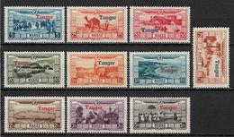 French Morocco Tanger 1929,Air Mail,Scott # CB11-CB20,VF Mint Hinged*OG (set-1) - Morocco (1891-1956)