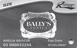 Bally's Casino Tunica, MS Slot Card - 8 Lines Of Text On Reverse - 6 Casino Logos - Casino Cards