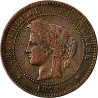 Monnaie, France, Cérès, 10 Centimes, 1872, Paris, TB+, Bronze, KM:815.1 - France