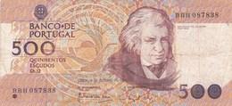 Portugal - Billet De 500 Escudos - 4 Octobre 1989 - Mouzinho Da Silveira - Portugal