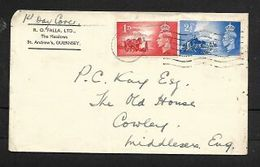 GVIR, Channel Islands Pair, GUERNSEY 10 MAY 1948 C.d.s. First Day Cover - FDC