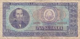 Roumanie - Billet De 100 Lei - Nicolae Balcescu - 1966 - Rumania