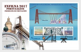 Spain 2017 - Exfilna 2017 - Portugalete - Metal Bridge FDC - 1931-Aujourd'hui: II. République - ....Juan Carlos I