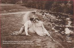 Fantasie Carte Fantaisie Romantiek Romance Romantique Romantic Couple CPA - Noces