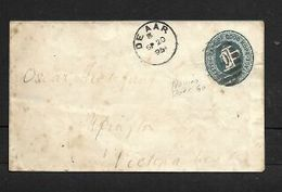 S.Africa, CoGH 1/2d Envelope, DE AAR SP 20 95 + BONC 60 > UPINGTON SP 26 95 Via Victoria West (in M/s/) - South Africa (...-1961)