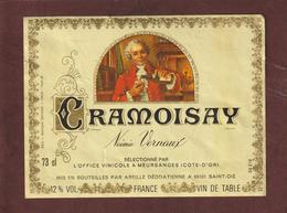 Étiquette De Vin - CRAMOISAY - Noémie Vernaux - Office Vinicole à MEURSANGES. 21 - Mis En Bouteilles à ST. DIE. 88 - Rouges