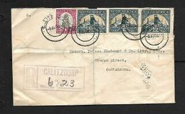 S.Africa, 5 1/2d, Registered CALITZDORP 8 AU 41 > OUDTSHOORN 11 VIII 41 - South Africa (...-1961)