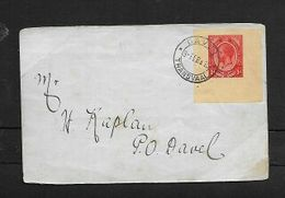 S.Africa, 1d Wrapper Cut Out, On Cover, DAVEL TRANSVAAL 3-FEB 15 C.d.s. > Davel - South Africa (...-1961)