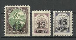LETTLAND Latvia 1927 Michel 114 - 116 * - Lettonia