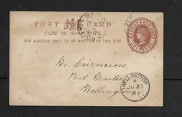 S.Africa, CoGH, 1d Post Card, WELLINGTON STATION JUL 23 88 > WELLINGTON JU 23 88 - South Africa (...-1961)