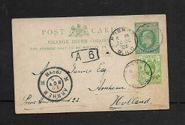 "S.Africa, ORC, 1/2d Card + 1/2d Adhesive, BOSHOF O.R.C. 30 OC 05 > ARNHEM 19 NOV 05, ""A 6"" Belgium Sorting Mark - South Africa (...-1961)"