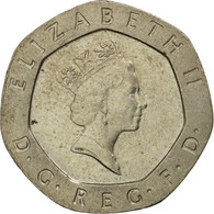 Monnaie, Grande-Bretagne, Elizabeth II, 20 Pence, 1990, TB+, Copper-nickel - 1971-… : Monnaies Décimales