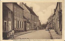 Carte Postale Ancienne De Lorrez Le Bocage Rue De Nemours Et La Gendarmerie - Lorrez Le Bocage Preaux