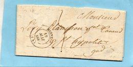 """Cachet 14 """"DIGNE"""",L.A.C. Du 19/5/45 Pour St HIPPOLYTE (Gard) - 1801-1848: Precursors XIX"""
