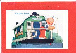ENFANT Cpa Animée The Boy Friend Illustrée Par Beatrice MALLET - Mallet, B.