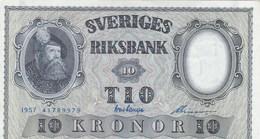 Suède - Billet De 10 Kronor - Gustav Vasa- 1957 - P43e - Neuf - Suède