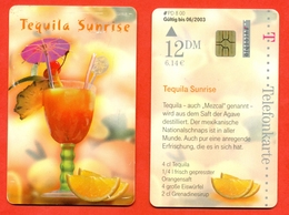 Germany. Alcohol.Cocktail Tequila. Plastic Card With A Chip.Phonecards. - Food