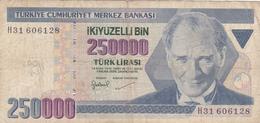 Turquie - Billet De 250000 Lira - Turquie