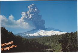 Mount Ruapehu, Erupting, Tongariro National Park - (New Zealand) - New Zealand