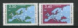 9258  FRANCE  Service  N°106/7 ** Conseil De L'Europe  1991   TTB - Neufs