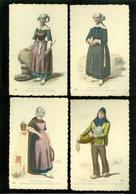Beau Lot De 15 Cartes Postales D' Anciens Costumes Bretons       Mooi Lot Van 15 Postkaarten Oude Bretoense Klederdracht - Postcards