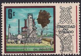 Trinidad & Tobago 1969 - 72 QE2 6ct Oil Industry SG 342 ( G1392 ) - Trinidad & Tobago (1962-...)