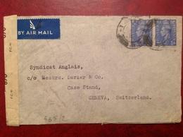 Censure Geoffnet Herts  Pour Genève , Morgan Grenfell London - Postmark Collection