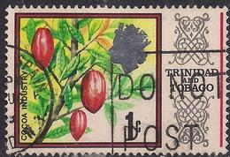 Trinidad & Tobago 1969 - 72 QE2 1ct Cocoa Beans SG 339 ( G1388 ) - Trinidad & Tobago (1962-...)
