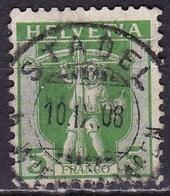 Switzerland / Schweiz / Suisse : Stempel STADEL Auf 1907 Tellknabe 5 C. Grün Michel 97 - Zwitserland