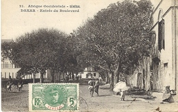292- SENEGAL -Dakar -entrée Du Boulevard - Sans éditeur - Sénégal