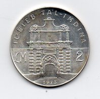 Malta - 1973 - 2 Lire Maltesi - Fort Manoel Gate - Argento - (MW1593) - Malta