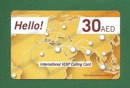 UAE / EMIRATES ARABES - International VOIP Calling Card - Used , Du Telecom, Dubai , AED 30 - As Scan - United Arab Emirates