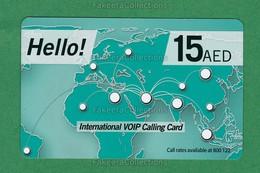 UAE / EMIRATES ARABES - International VOIP Calling Card - Used , Du Telecom, Dubai , AED 15 - As Scan - United Arab Emirates