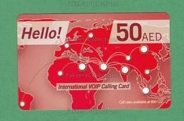 UAE / EMIRATES ARABES - International VOIP Calling Card - Used , Du Telecom, Dubai , AED 50 - As Scan - United Arab Emirates