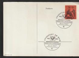 P 268) BRD SSt 6 FRANKFURT1967, Mi# 535 Franz Von Taxis: 100 J Oberpostdirektion - BRD