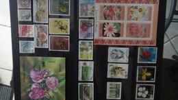 Thématique Sur Les Fleurs Et Les Oiseaux.  Très Sympa !!! - Timbres