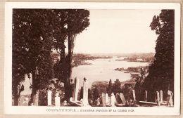 Eus018  EYOUB CONSTANTINOPLE Cimetiere Turc Et La Corne OR 1930s - E.F ROCHAT N°1202 Turkije Turkey Turquie - Turkey