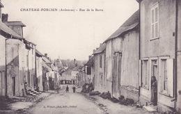 CPA - 08 - CHATEAU PORCIEN - Rue De La Barre - RARE !!!!! - Chateau Porcien