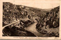 03 LES GORGES DE LA SIOULE A CHOUVIGNY  VUE SUR LE ROCHER ARMAND ET LE VIEUX CHATEAU - Francia