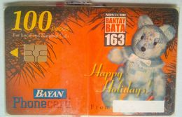 Bayan Tel Christmas 2001  100 Pesos  MINT - Philippines