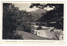Valls D' Andorra  La Massana Sispony I Pic De Casamanya  Edit Claverol N° 117 Carte Voyagée Cachet 1951 - Andorre