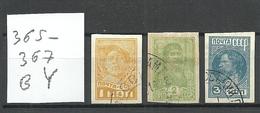 RUSSLAND RUSSIA Russie 1931 Michel 365 - 367 B Y O - Usados