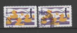 "FRANCE / 2017 / Y&T N° AA 1435 : ""Fête Foraine"" (Pêche Aux Canards) X 2 - Choisis - Cachet Rond - Adhesive Stamps"