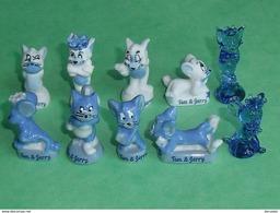 Sèrie De Fèves Complète  : Tom Et Jerry Fonts Des Rêves , Avec Ses 2 Fèves En Verres - Cartoons