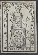 Fiscales Libros De Comercio 16 (*) 6 Cs De Escudo. 1866 - Fiscales