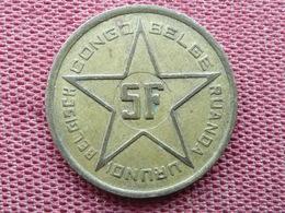 CONGO BELGE Monnaie De 5 Frs 1952 - Congo (Belgian) & Ruanda-Urundi