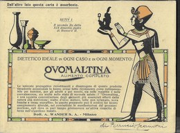PUBBLICITA' OVOMALTINA DR. WANDER - SU CARTOLINA CARTA ASSORBENTE USATA - Alimentare
