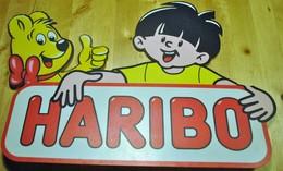 Rare Plaque En Plastique Publicité Bonbons Haribo Haut De Présentoir - Plaques Publicitaires