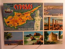 Chypre - Vues Diverses - Carte - Chypre